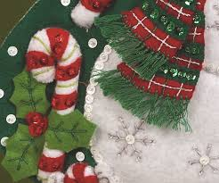 bucilla 18 inch christmas stocking felt applique kit sugar plum
