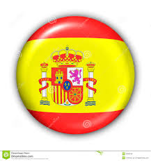 spain flag stock illustration image of icon button spain 5086168