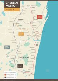 Metro Route Map by Chennai Metro Phase Ii Route Gets Green Nod