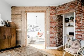 exposed brick distressed wood and modern concepts decoholic