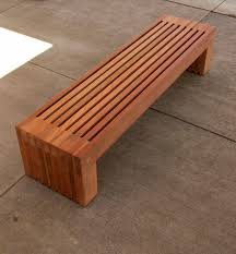 contemporary garden bench plans video and photos