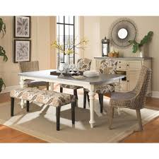 cappuccino dining room furniture collection keller collection floral and cappuccino bench 100563 the home depot
