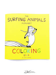 surfing animals alphabet coloring book jonas draws