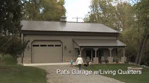 home garage plans pat u0027s garage w living quarters youtube