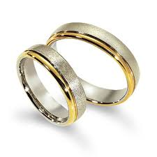 His And Her Wedding Rings by Polish Sandstone European Flat His And Her Wedding Bands 5mm 02119