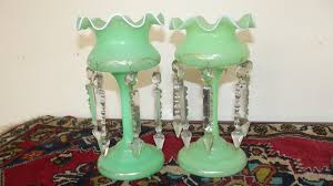 Victorian Glass Vase Lustre Vases Victorian For Sale Antiques Com Classifieds