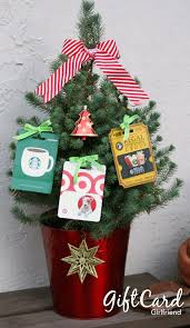 Starbucks Christmas Decorations Gift Card Girlfriend U0027s Gift Card Tree I Tied The Gift Cards With