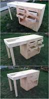 Patio Furniture Out Of Wood Pallets by Best 25 Pallet Furniture Office Ideas On Pinterest Recycled