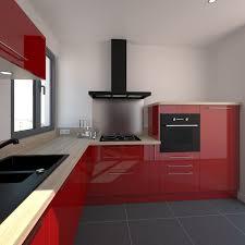 implantation cuisine en l cuisine moderne façade stecia brillant kitchens and house