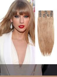 light ash brown hair color clip in hair extensions solid color indian remy light ash brown