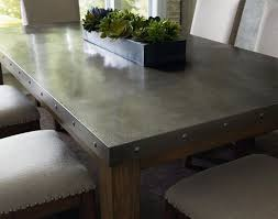 Metal Top Kitchen Island Metal Table Top Decorating With Tin Metal Pinterest Metals