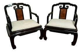 chinoiserie schnadig horseshoe chairs a pair chairish