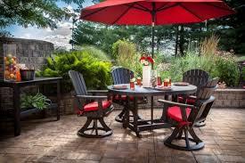 Umbrella Patio Sets Gillette Interiors Outdoor Patio Furniture Set With Umbrellas