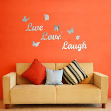 1 set home decor live love laugh letters wall stickers acrylic