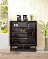 amazon com iohomes westwood 7 shelf shoe cabinet black kitchen