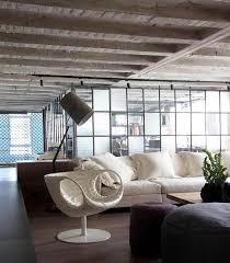 Wohnzimmer Raumteiler Kombination Unterschiedlicher Materialien Faliro Loft Freshouse