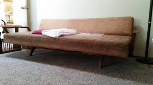 help me identify mid century modern pull out sofa dux