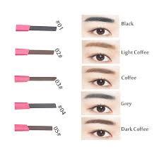 light grey eyebrow pencil long lasting waterproof eyebrow pencil 3 eyebrow shape stencils