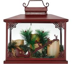 holiday party for the home qvc com oversized holiday lantern w 3 flameless candles by valerie h211509