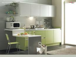 simplicity is the best rule for small corner kitchen idea in green