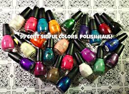 walgreens nail haul sinful colors polish 0 99 sale oct 2014