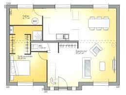 plan maison rdc 3 chambres plan maison une chambre plan maison 3 chambres plain pied plan