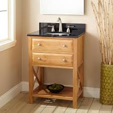 All Wood Bathroom Vanities by Bathroom Narrow Depth Vanity With Sink And Black Countertop For