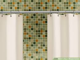 How To Install Shower Curtain How To Buy A Shower Curtain 11 Steps With Pictures Wikihow