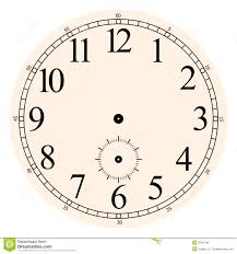 printable antique clock faces clock face with hands clipart 52