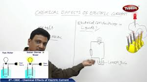 chemical effects of electric current 8th science physics ncert