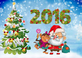 images monkeys new year santa claus new year tree holidays