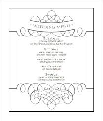 wedding menu templates free wedding menu template wedding wedding menu