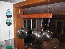 kitchen hanging pot and pan rack with lights kitchen utensil