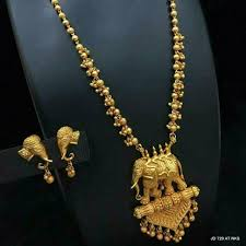 fashion necklace set images Bahubali antique gold plated elephant statement necklace set jpg