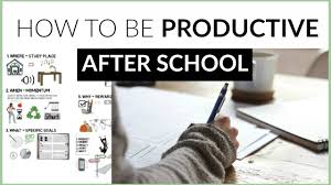 after school study how to be productive after school 5 study tips