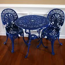 Retro Patio Furniture Sets Chinoiserie Blue Vintage Patio Table And Chairs Garden Furniture