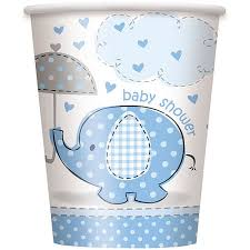 baby shower paper 9oz paper blue elephant baby shower cups 8ct walmart