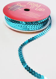 sequin ribbon turquoise sequin trim 9 ribbon and trims craft supplies