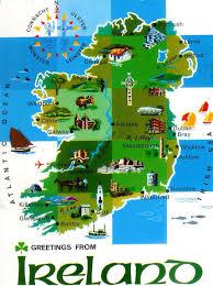 Dublin Ireland Map Detailed Illustrated Map Of Ireland Ireland Europe Mapsland