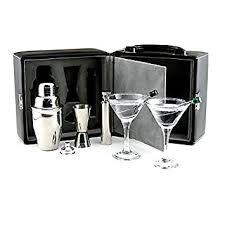 barware sets amazon com franmara martini travel bar set with case barware