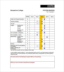 report card format template high school report card template fieldstation co