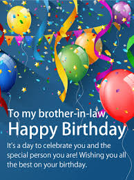 cheerful happy birthday card for brother in law birthday