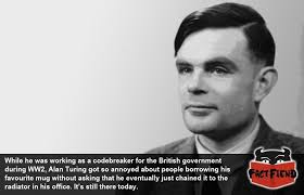 his and mug alan turing didn t f k around with his favourite mug fact fiend