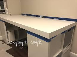 A Computer Desk Ikea Hack Diy Computer Desk With Kallax Shelves Keeping It