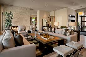 long living room furniture arrangement for decorating a long living room or family