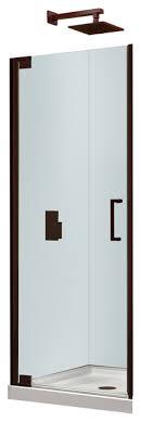 28 Shower Door Pivot Shower Door With Bathroom Glass Door Brushed Nickel Glass