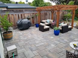 Pergola With Fire Pit by Small Concrete Patio Replaced With Larger Paver Layout Plus
