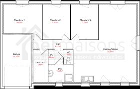 plan de maison de plain pied 3 chambres cuisine athã na maisons pas cher seine maritime et eure plan