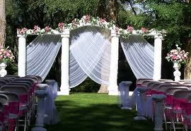 outdoor wedding ceremony decorations garden wedding centerpiece