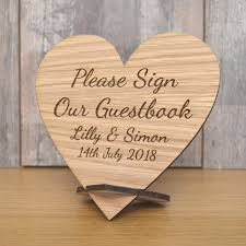 personalised wedding guest book wooden sign our guest book plaque personalised wedding